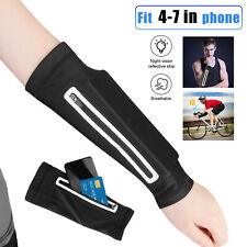 Armband Sports Running Jogging Sun Protection Arm Sleeves Cell Phone Holder Bag