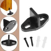 1 set Wood Sliding Barn Door Hardware Bottom Floor Guide Plastic Black Screws