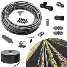 Garden Drip Irrigation Kit A-BV 10 row valves 1000ft tape vegetable water system
