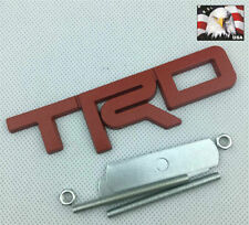 [1-PC] Tundra Tacoma 4Runner 3-D Red TRD Metal Front Grille Badge Emblem T-R-D