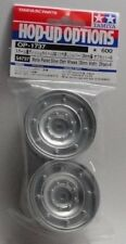 New Tamiya 54737 Matte Plated Siver Hummer/ Jeep CC 01 Style Option Rims OP 1737