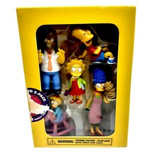 """Simpsons New In Box 5  Figures Bart Homer Marge Lisa Maggie Family 4"""""""