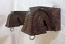 Wall Hanging Wooden Corbel Bracket Pair used for hanging lamp Diwali Home Decor