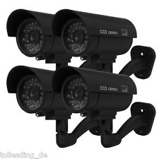 4XOutdoor Waterproof Dummy Fake Surveillance Security CCTV Camera With LED Flash