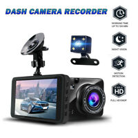 "4"" 1080P FHD Dual Lens Car DVR Mirror Mounted Dual Dash Cam Front and Rear Kit"