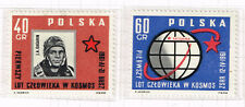 Poland First Soviet Man Gagarin in Space set 1961 MNH