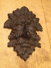 "Cast Iron Leaf Man Wall Hanger 10"" Home & Garden Decor Supplies 0170K-05631"