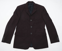 Nicole Farhi Mens Wool Brown Suit Jacket 40 Chest (Long)