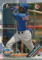 2019 BOWMAN 1ST RC RONNY MAURICIO NEW YORK METS ROOKIE - 4478