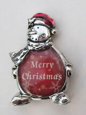 p Merry Christmas Message SNOWMAN FIGURINE miniature