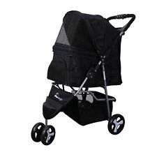 Pet Stroller Dog Cat Cage Carrier Travel Pushchair Foldable Pram 3 Wheels