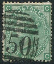 SG117, 1/- GREEN (PLATE 4), GOOD USED