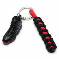 3D Mini Sneaker Shoes Keychain Retro Dirty Bred With Strings for Air Jordan 13