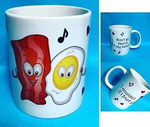 Funny Valentines Mug Printed Be Mine Coffee Tea Cup Novelty Gift