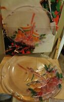 Vintage Mikasa Crystal Christmas Holidays Bells 14 3/4 Hostess Platter New