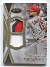 2020 Topps Tier One Dual Jersey Patch Matt Carpenter #/25 St. Louis Cardinals