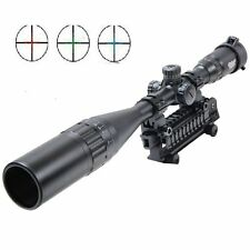 UUQ 6-24X50 AOL Hunting Rifle Scope W/ Front AO adjustment,R/B/G Mil Dot Reticle
