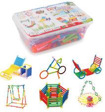 130pcs Baby Kids Assembled Educational Toys Smart Sticks Plastic Building Blocks