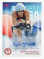 2016 Topps USA Olympic Team Autograph #11 Melissa Stockwell Paratriathlon