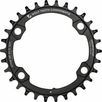 Wolf Tooth 96 BCD Chainring - 36t 96 Asymmetric BCD 4-Bolt Drop-Stop For Shimano