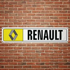 Renault 72 Banner Garage Workshop PVC Sign Trackside Display Vintage Classic Car