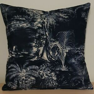 Linwood Omega Prints Collection & Omega Velvet Cushion Cover 18x18 in