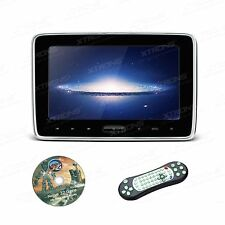 "1x HDMI 10"" LCD Car Pillow Headrest Monitor Portable DVD Player Game IR Headset"