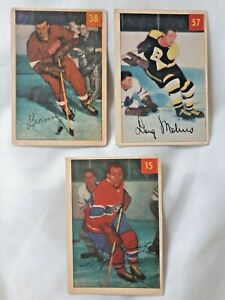 1954-55 Parkhurst # 57, Doug Mohns Hockey, Rookie Cards, Boston Bruins, Ex-NrMt