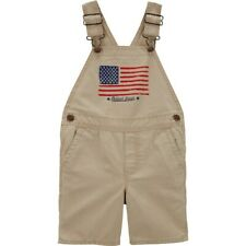 New OshKosh Toddler Boys Bgosh American Flag Shortalls...