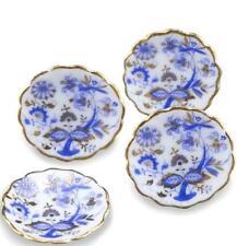 Dollhouse DINNER Plate Set 1.389/5 Blue Onion for 4 Reutter Miniature