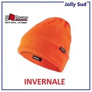Berretto di Lana Uomo Invernale Caldo U POWER UPOWER Cappello Arancione Fluo