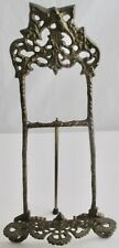 Vintage Ornate Brass Table Top Easel Picture Plate Stand Display French Style