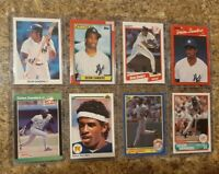 (8) Deion Sanders 1989 1990 Donruss Leaf Upper Fleer Score Topps Rookie card lot