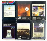 The Moody Blues 8 Track Cartridge Lot Of 6 Tapes Vintage OOP Free Shipping
