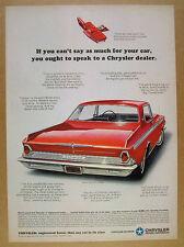 1964 Chrysler 300 2-door Hardtop red car illustration art vintage print Ad