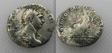 Lot 1 Collectable Silver Trajan Denarius Roman coin - Fortuna Seated