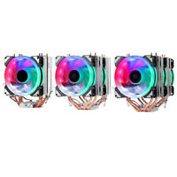 Detachable CPU Cooler Dual Cooling Tower RGB LED 9cm Fan for AMD Intel