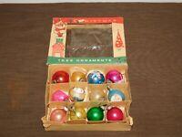 VINTAGE FANTASIA BRAND SANTA CLAUS HOLIDAY 12 OLD CHRISTMAS TREE ORNAMENTS