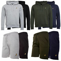 Mens Brave Soul 2 Pack Over The Head Hoodie Shorts Brushed Back Fleece Fashion