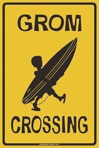 Wahine Crossing Aluminum Metal Traffic Parking Road Street Sign Kids Wall Decor