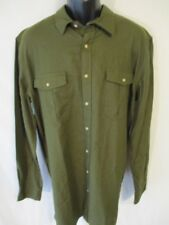 Foundry 100% Cotton Dark Green TALL LT Long Slve Point Casual Shirt SR$50 NEW