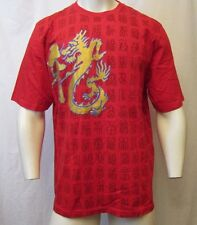 EYE POPPING YEAR OF THE DRAGON 2012 GOLD GLITTER & RED CREW NECK T-SHIRT SZ 2XL