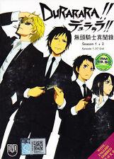 Durarara !! Season 1+2 (Eps : 1 to 37 end) DVD with English Dubbed