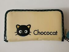 Vintage Sanrio 1999 Chococat Long Large Peach Gingham Wallet with Tag NEW - MINT