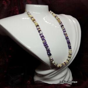 NWOT Tiffany Stone/Opalized Flourite & Amethyst 14k Gold Filled Beaded Necklace