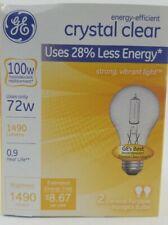 2 Bulb Pack New GE Lighting 78798 Crystal Clear 72w 100w Halogen A19 Light Bulbs