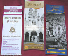 *MINT* DISNEYLAND 50th MAP SET GUIDE LOT 1955 2005 Walt Disney DCA Brochure Book