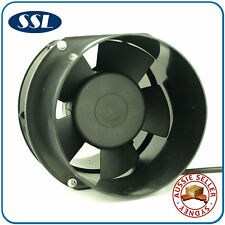 150mm 6in Inline Exhaust Fan with Cast Alloy Motor Housing and PVC Duct Flanges