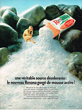 PUBLICITE advertising 1970   REXONA savon mousse active   nue