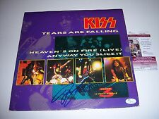 BRUCE KULICK KISS TEARS ARE FALLING JSA/COA SIGNED LP RECORD ALBUM